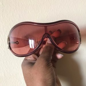 Pink Gucci Ski glasses